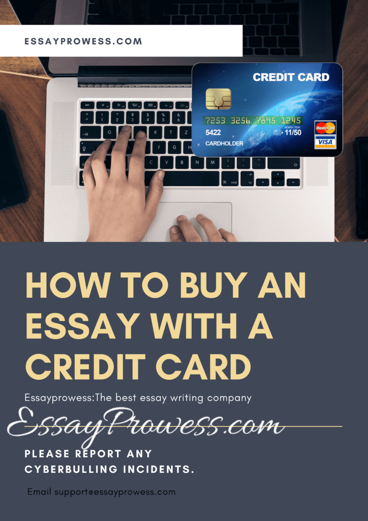 How to Buy essay with credit card